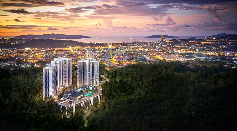 Bukit Bantayan Residences Aerial View