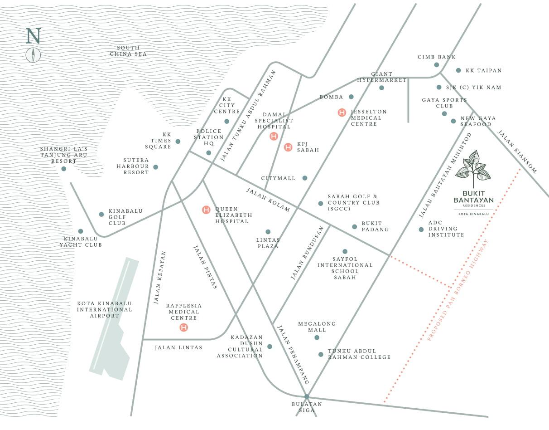Bukit Bantayan Map