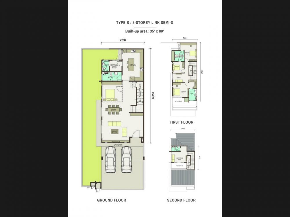 Type-B-3-Storey Link Semi Detached Homes