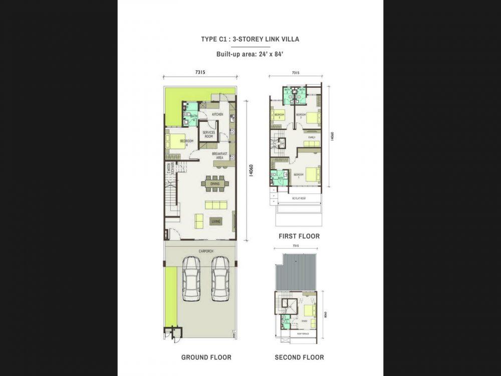 Type-C1-3-Storey Link Villas