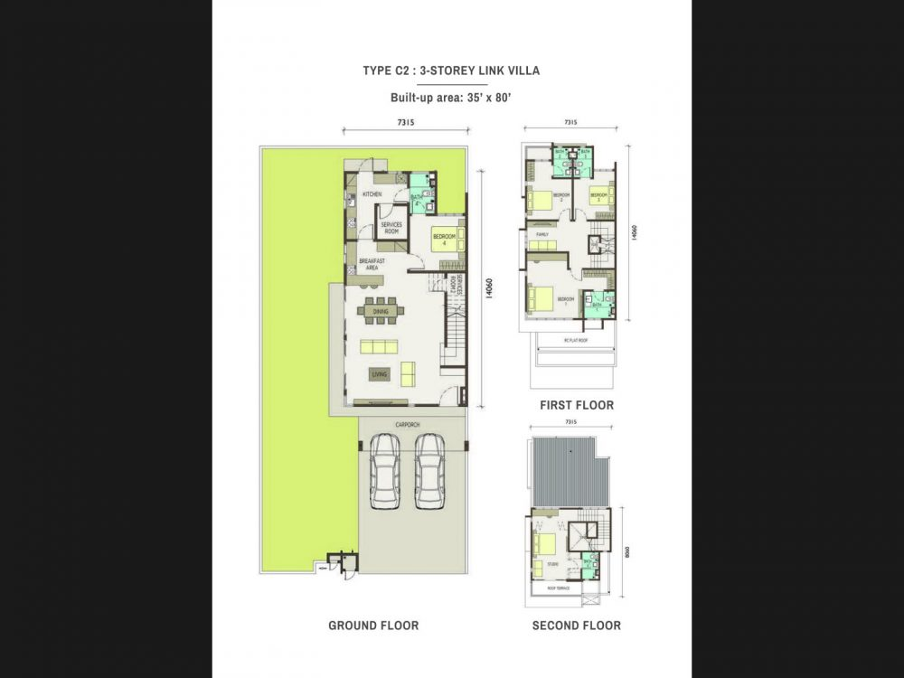 Type-C2-3-Storey Link Villas