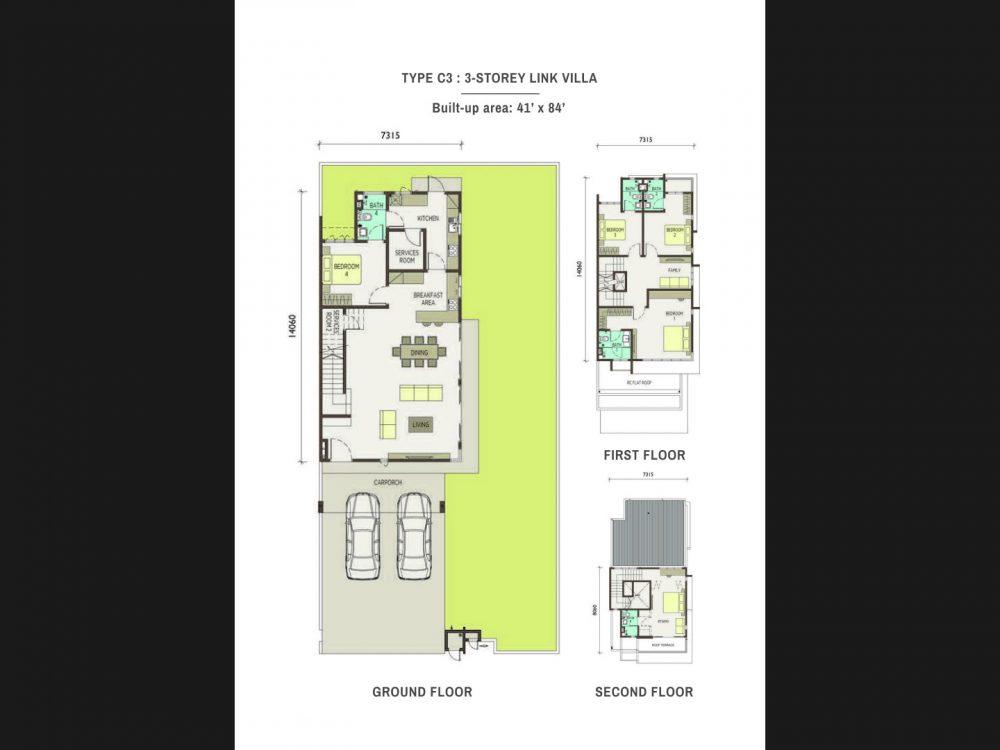 Type-C3-3-Storey Link Villas