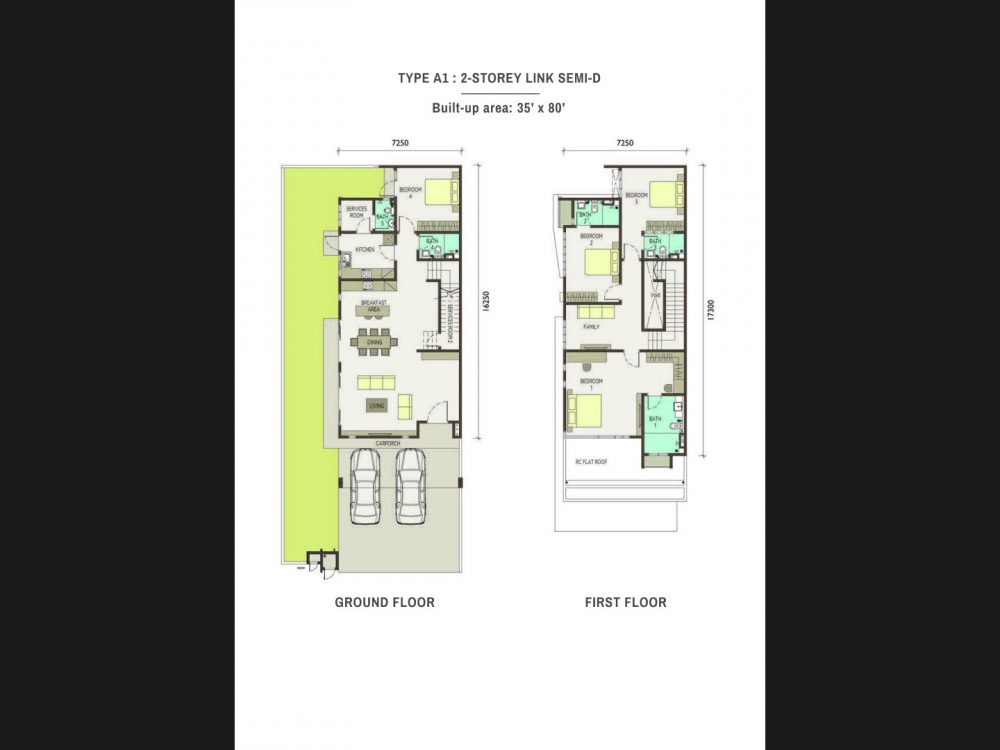 type-A1-2-Storey Link Semi Detached Homes