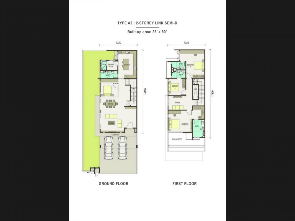 type-A2-2-Storey Link Semi Detached Homes