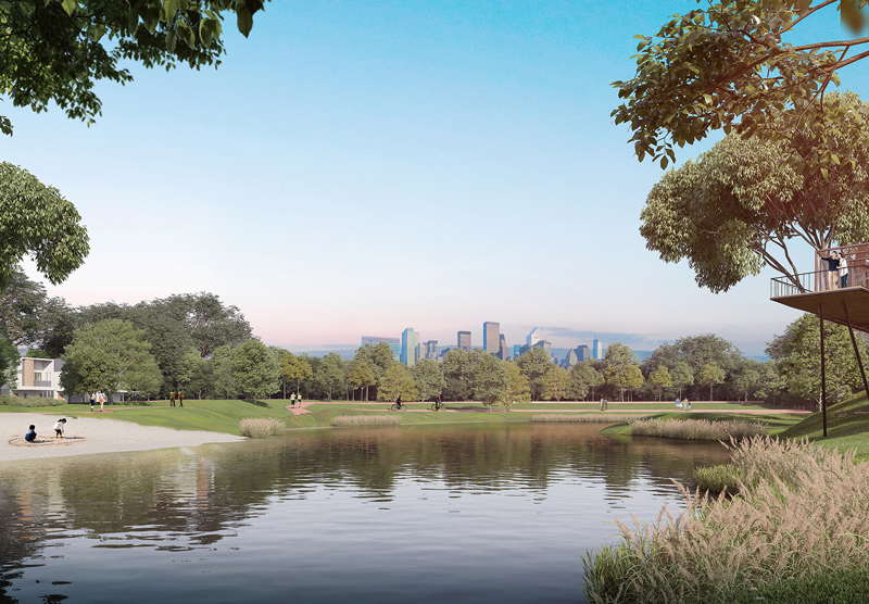 Artist's impression of Central Park at Gamuda Cove.