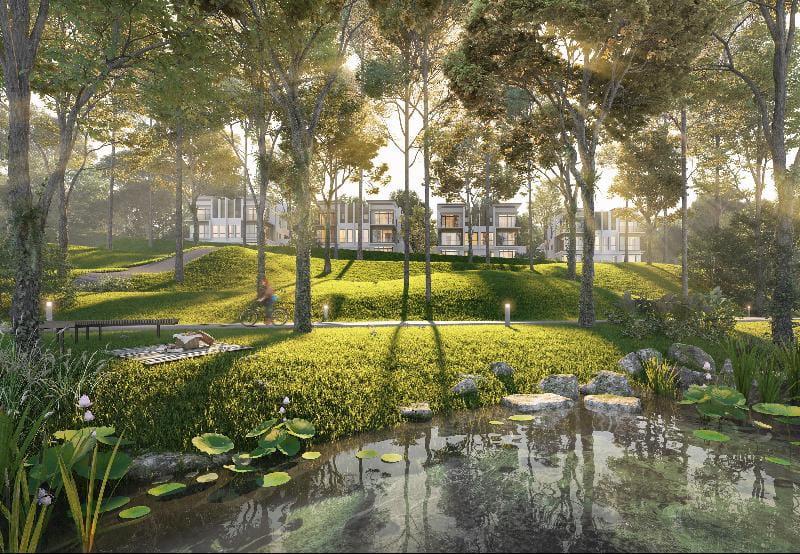 加影Jade Hills,四周绿意盎然也备有休闲中心。