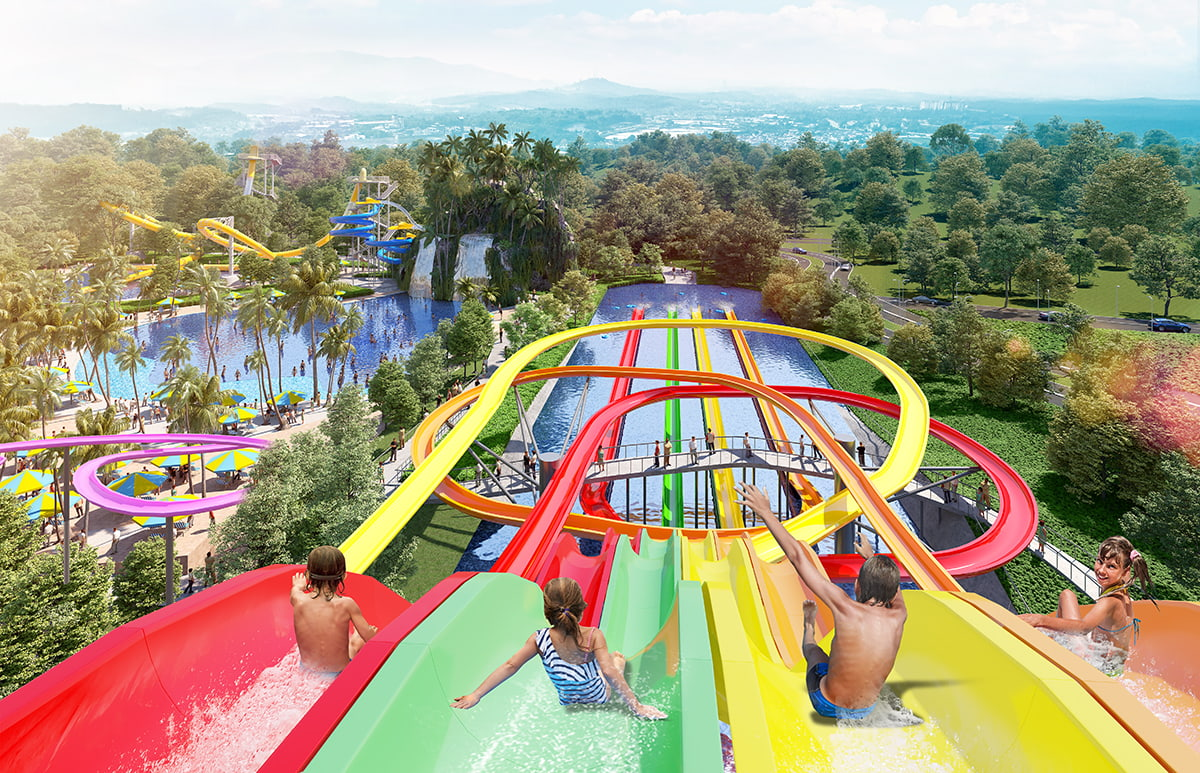Taman tema air itu akan menawarkan 18 permainan termasuk gelongsor dilengkapi kamera VR.