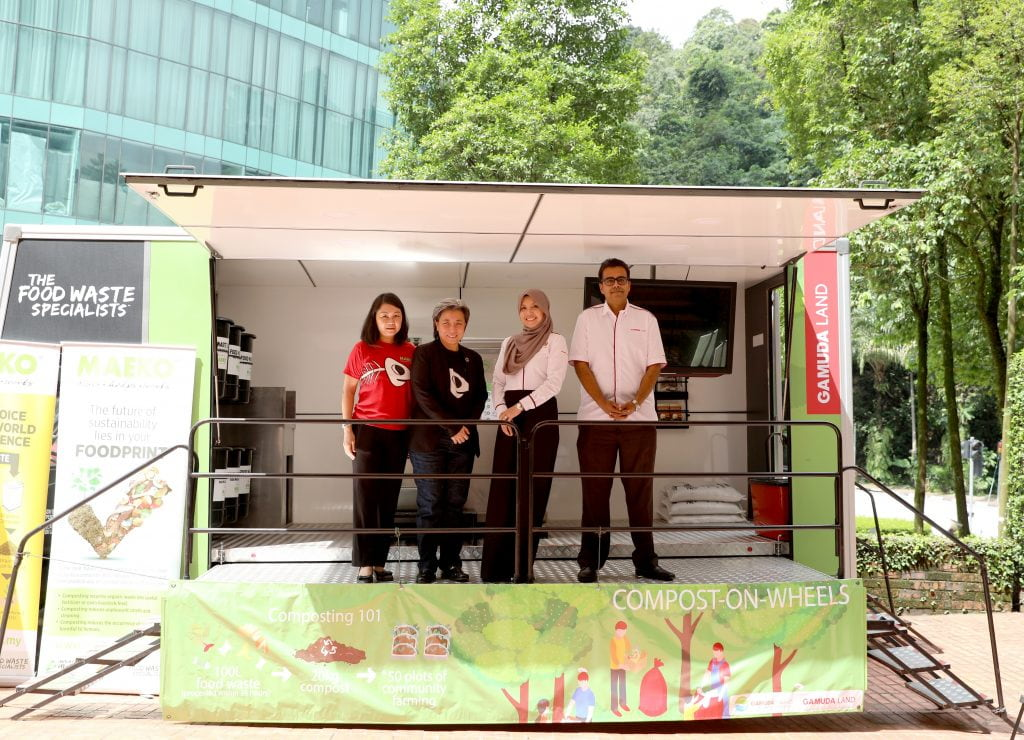 Gamuda Parks partners with MAEKO to launch compost-on-wheels, a composting mobile truck aiming at empowering the community to reduce carbon footprint with better food waste management.