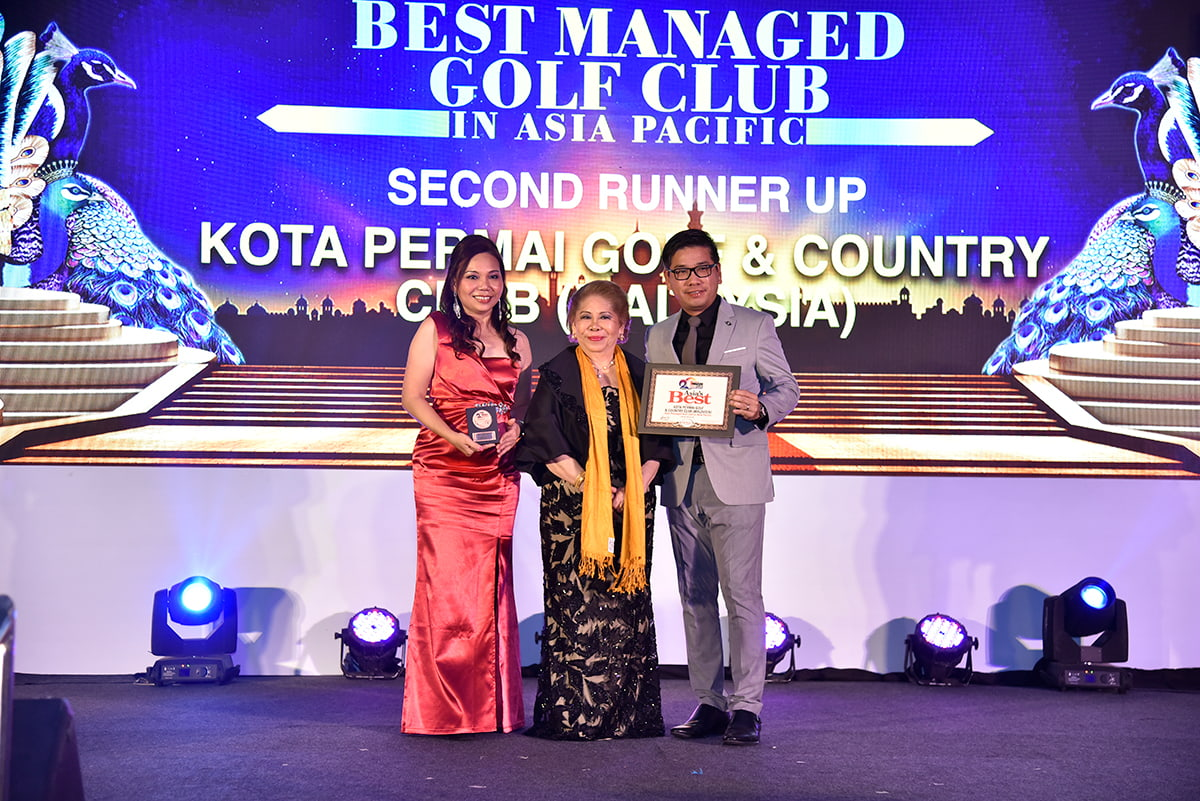 (L-R): Sheren Yong (Assistant General Manager, Club Operations – KPGCC), Angela Raymond (President, Asia Pacific Golf Group), Tang Meng Loon (Director, Club Operations – GROUP)