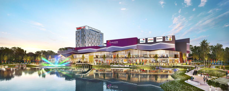 Quayside Mall adalah pusat membeli-belah komuniti, menggabungkan kemudahan runcit dengan ruang interaktif yang memupuk interaksi masyarakat.