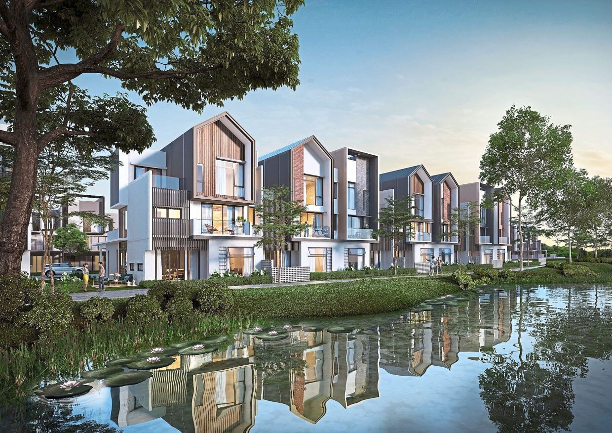 Gamuda Land's Luxura designer link villas at twentyfive.7 feature a practical and spacious layout design that opens up to the surrounding greenery, maximising natural lighting and ventilation.