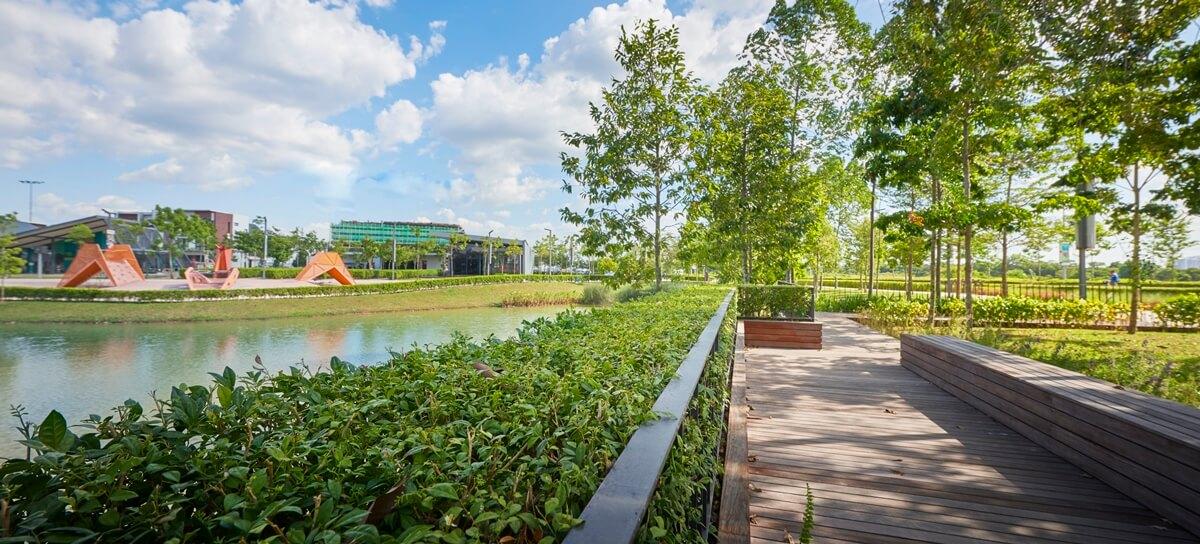 金务大置地在规划每一座城镇时,都会将大自然元素列入考虑,致力为顾客打造一个绿色环境。(图片来源:金务大置地)