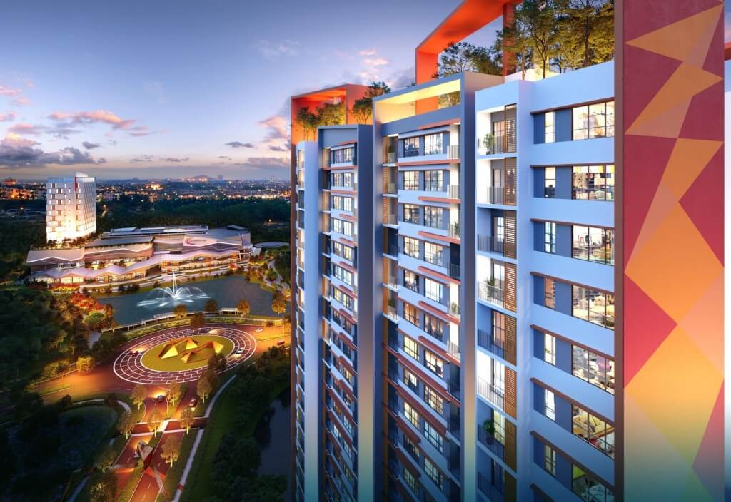 The Amber Residence is located right next to the Quayside Mall, perfect for urban dwellers.