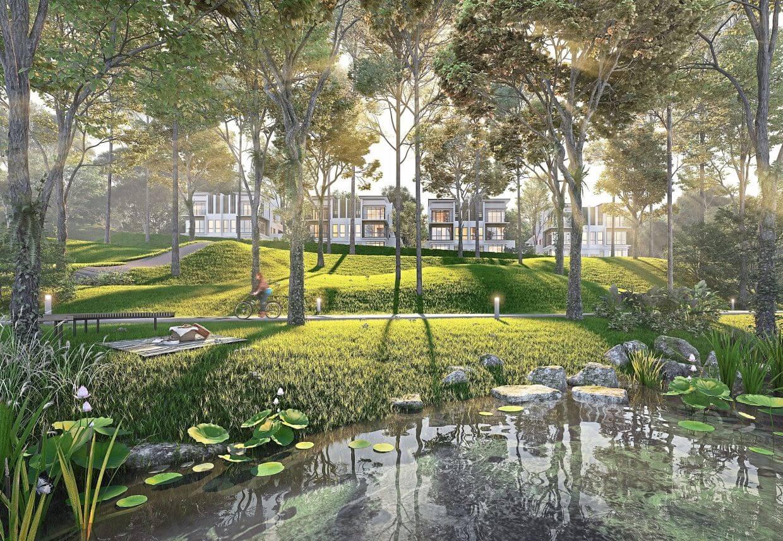 Artist's illustration of Rymba Gardens.
