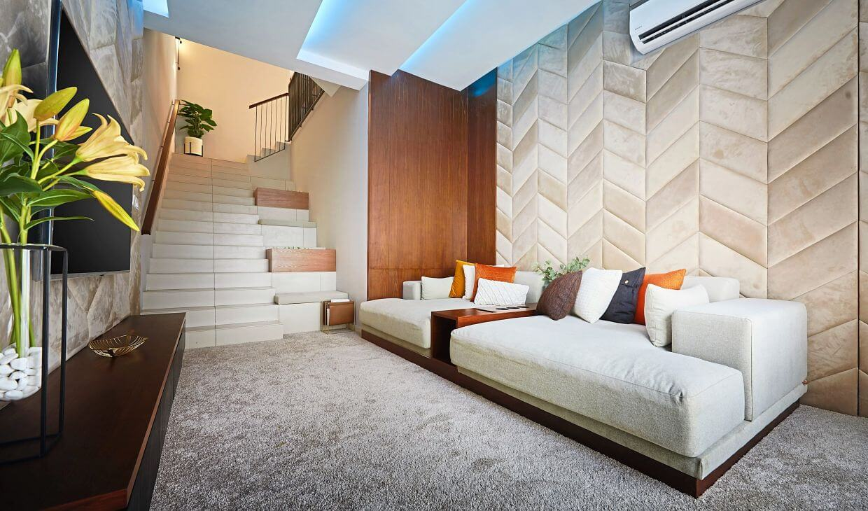 Multipurpose room at the lower ground floor.