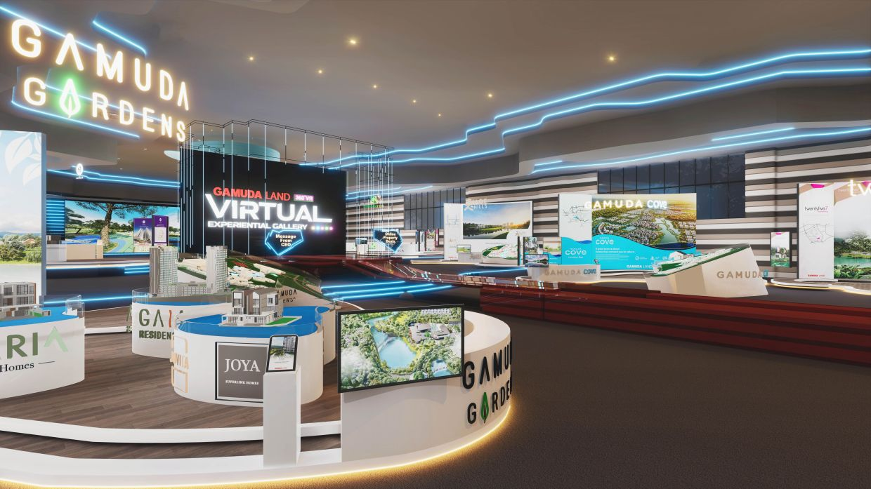 The Gamuda Land Virtual Experiential Gallery, the first of its kind in Malaysia that allows visitors to explore the gallery in full 360° view and 3D format.