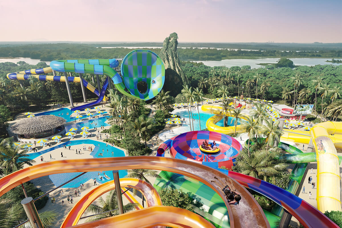 Splashmania water theme park is slated for completion by end 2021.