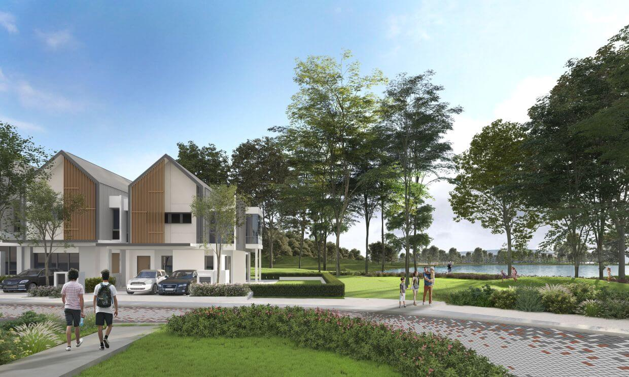 Artist's impression of Blossom Springs, one of the most accessible entry points for a luxury link home in Kajang and surrounding communities.