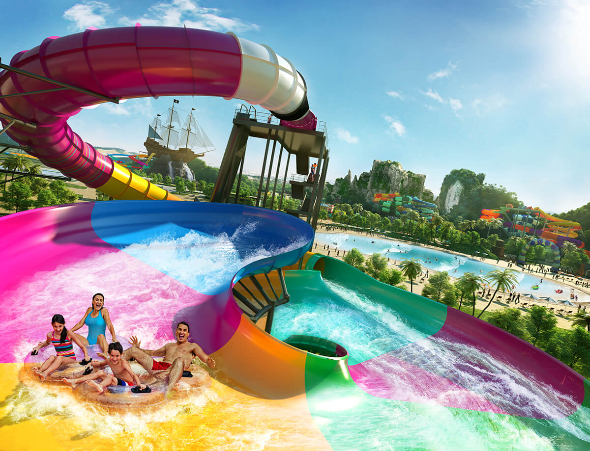 Splashmania, Asia's largest rainforest water theme park, set to open in 2022, is strategically located next to Townsquare.