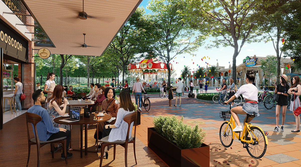 Townsquare at Gamuda Cove is mindfully designed with al fresco streets and alleys emphasising social engagement.