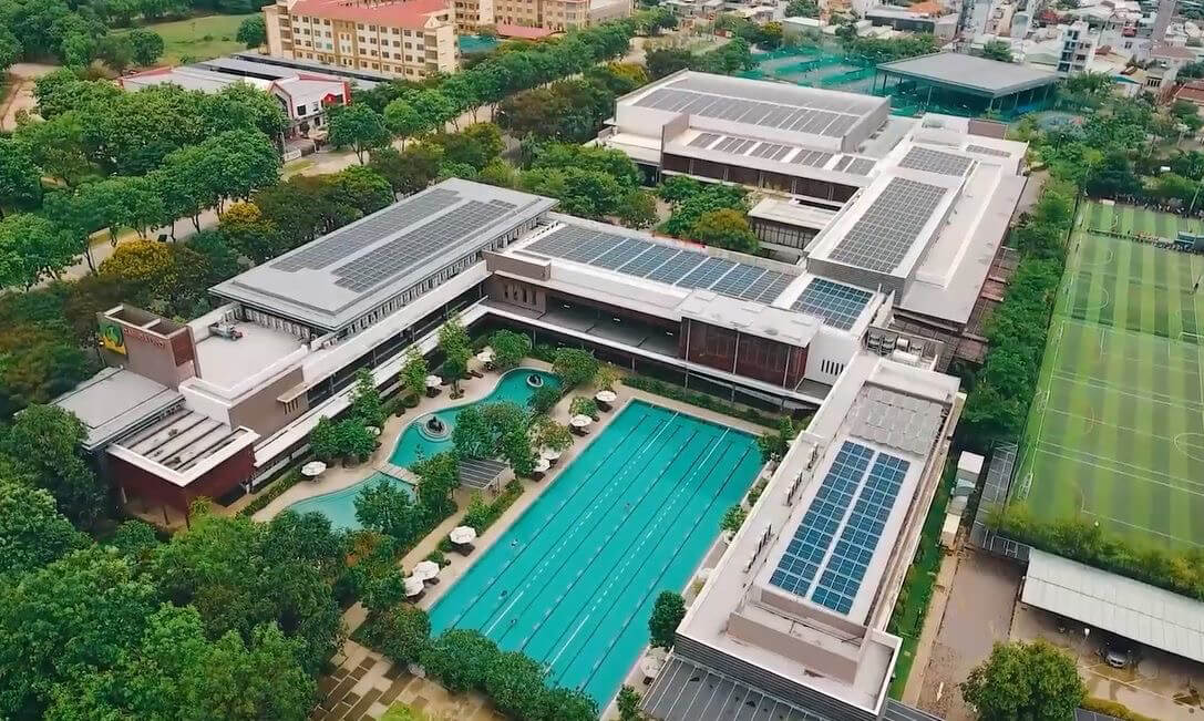 Celadon City Sports Club in Ho Chi Minh City is fully solar powered.